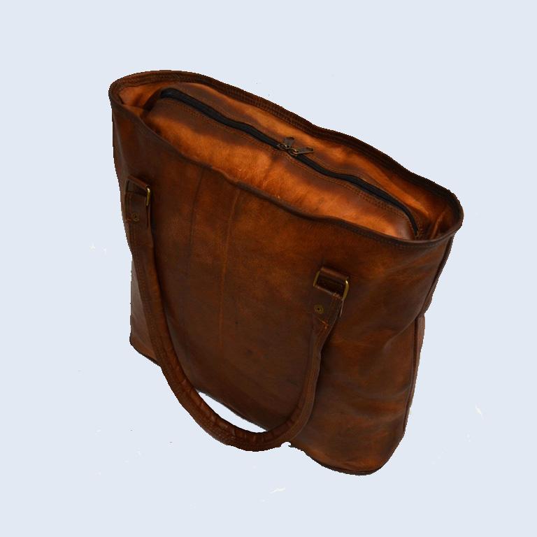 Shakun Leather Womens Vintage Handbag Tote Handmade Boho Bag